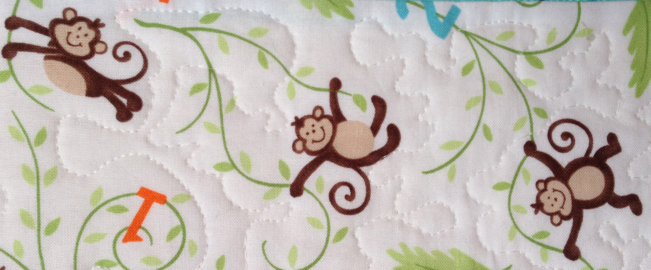 The blue cat creations nolan for Baby monkey fabric prints
