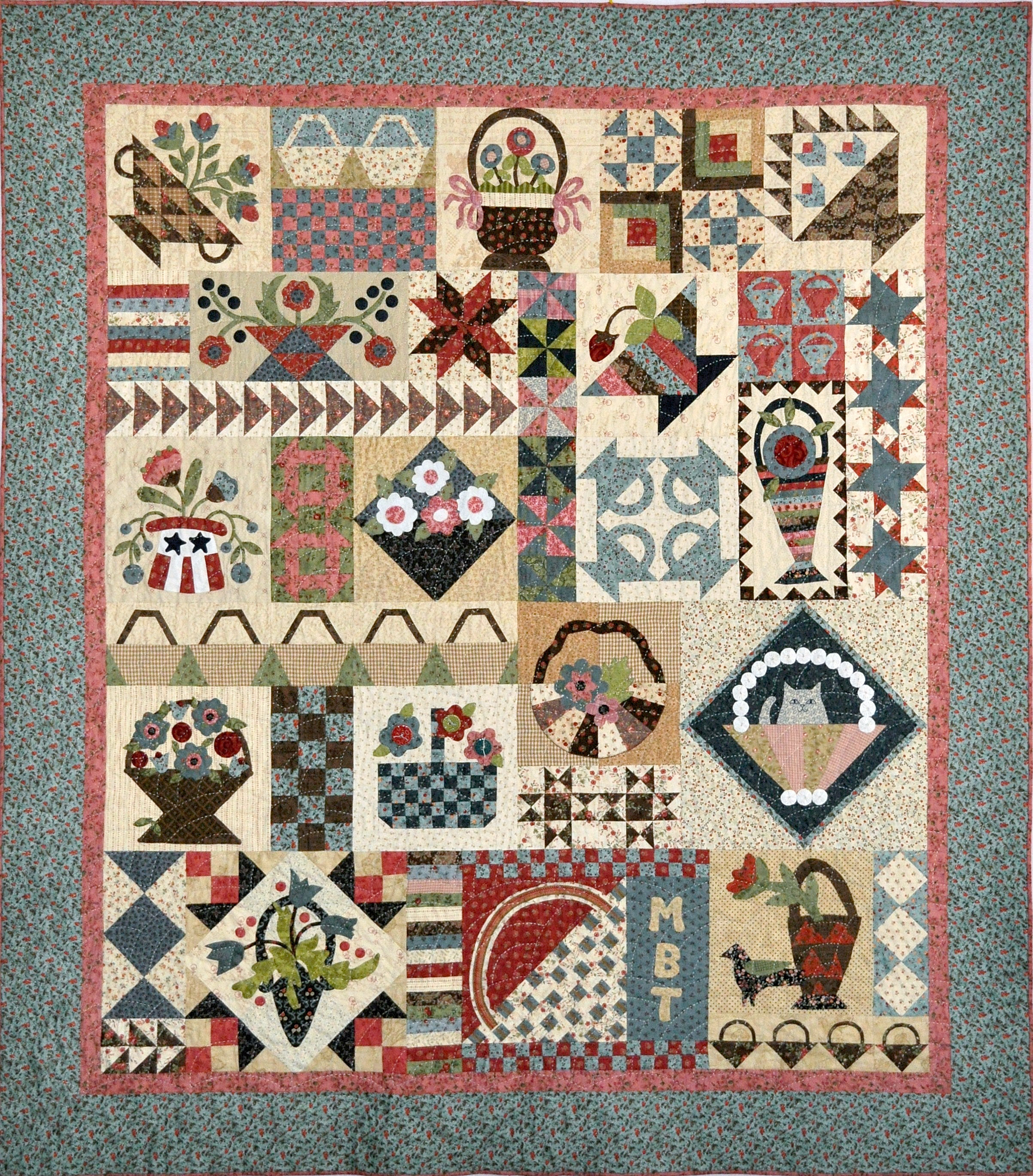 Quilting Patterns And Notions : Block Of The Month Patterns Browse Patterns